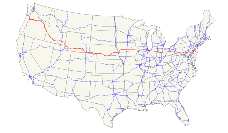 October Josephcantwell - Us route 30 map